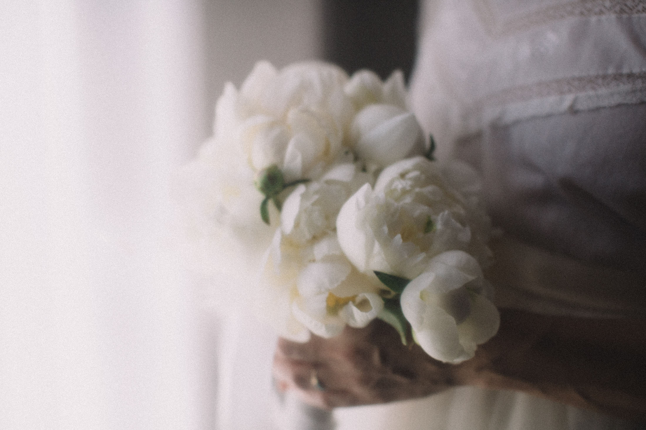 Brides Hands with Bouquet